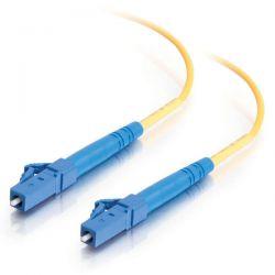 C2G - LC-LC 9/125 OS1 Duplex Singlemode PVC Fiber Optic Cable (LSZH) - Cabo patch - monomodo LC (M) para monomodo LC (M) - 10 m - fibra óptica - 9 / 125 microns - OS1 - sem halogéneo - amarel