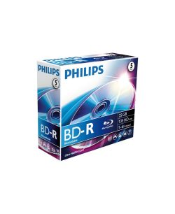 PHILIPS - Blu-Ray Recordable 25GB 6x Jewel Case (5 unidades)