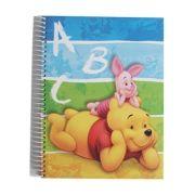 AMBAR - Caderno Espiral Ambar Winnie the Pooh A5 Quadriculado 120 Fls