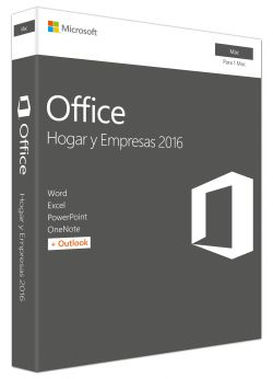 MICROSOFT - OFFICE HOME BUS 2016 MAC 1 LIC LICS COMPLETO 1USUARIO(S)