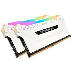 CORSAIR - DDR4, 3200MHz 16GB 2 x 288 DIMM, Unbuffered, 16-18-18-36, Vengeance RGB PRO Branco Heat spreader, RGB LED, 1.35V, XMP 2.0