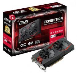 ASUS - EX-RX570-O4G - Radeon RX570 4GB GDDR5 256 bit Native x 1 2 Slots PCI-E 3.0