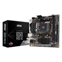MSI - PLACA MSI B350I PRO AC, AMD, AM4, B350, 2DDR4, 32GB, HDM+DP, GBLAN+WIFI+BT, 4SATA3, 4USB3.1, MITX