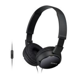 SONY - MDR-ZX110APB - Auscultador dobrável com microfone: Unidade de diafragma 30 mm: Sensibilidade: 98dB/mW: Impedância: 24 ohm (1KHz): Resposta de Frequência: 12-22:000Hz: Cor: Preto