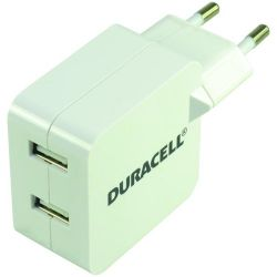 DURACELL - Duracell Twin USB Tablet Charger 2x2.4A White