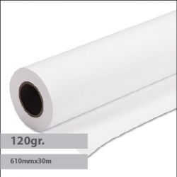 EVOLUTION - Papel Plotter Revestido 120gr 610mmx30mts Evolution -1Rolo - 1821183