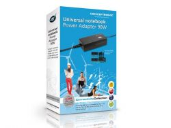 CONCEPTRONIC - Alimentador de corrente universal (10 conectores) 90W. para portátil. com porta USB