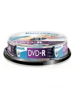 PHILIPS - DVD-R 4,7GB 16x Cakebox (10 unidades)