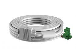 VISION - CABO VGA, 5 M - Cabo de instalação branco de elevada qualidade. Um conector moldado numa extremidade e um conector Phoenix macho na outra extremidade, que pode ser ligado diretamente na parte traseira de um módulo de placa frontal Techconnect.