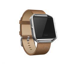 FITBIT - Leather Band + Frame - Grande - faixa de braço - camelo - para Fitbit Blaze (L (indicado para pulsos (170 - 206 mm))