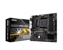 MSI - B350M PRO-VDH AMD AM4 B350 MATX