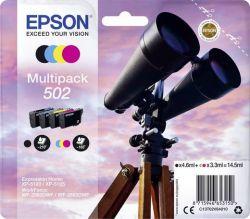 EPSON - 502 Multipack - Pack de 4 - preto, amarelo, azul cyan, magenta - original - blister - tinteiro