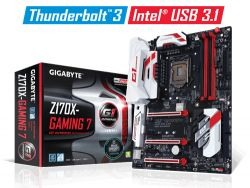 GIGABYTE - Z170X-GAMING 7 INTEL 1151 Z170 4DDR4 64GB 2HDMI+DP 2GBLAN 6SATA3 2USB3.1