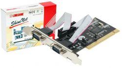HITEC - Placa Longshine PCI 2 portas série RS–232 opção baixo perfil