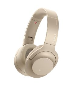 SONY - WHH-900NN - Auscultadores série H.EAR com BT, High-Res Audio, Noise Canceling e Sense Engine. Compatível com a app Headphones Connect. Cor Dourado