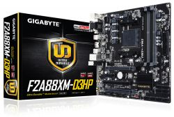 GIGABYTE - F2A88XM-D3HP AMD FM2+ A88X 4DDR3 64GB +DVI+HDMI GBLAN 8SATA3 2USB3.1 MATX