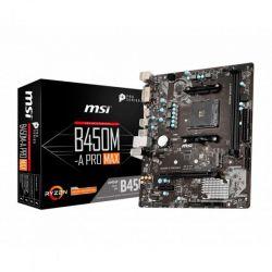 MSI - Motherboard B450M-A PRO MAX AMD AM4 4xDDR4 VGA/DVI/HDMI mATX