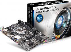 ASROCK - H81M-HDS INTEL 1150 H81 2DDR3 16GB +DVI+HDMI 2SATA3 2USB3 GBLAN MATX