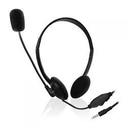 EWENT - Headset EW3567 com fio (Auscultadores+Microfone)