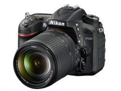 NIKON - D7200 + 18 / 140 VR - Formato DX, 24.2 megapixéis, Disparo Contínuo 6 QPS, Full HD
