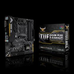 ASUS - MB AMD B450 SKT AM4 4XDDR4 DVI-D/HDMI MATX -TUF B450M-PLUS GAMING