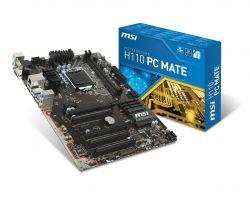 MSI - H110 PC MATE INTEL 1151 H110 2DDR4 32GB +DVI+HDMI GBLAN 4SATA3 4USB3.1
