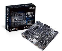 ASUS - PRIME B350M-K AMD AM4 B350 2DDR4 32GB VGA+DVI GBLAN 4SATA3 6USB3 MATX