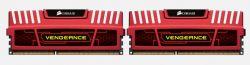 CORSAIR - DDR3 8GB 2x4GB PC 1600 Vengeance Red Heatspreader CMZ8GX3M2A1600C9R