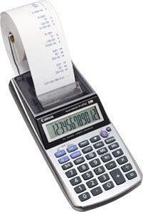 CANON - Calculadora Portátil com rolo P1-DTSC CP EURO - 12 Dígitos, LCD de grandes dimensões, Funções de cálculo de taxas, cálculo de margens