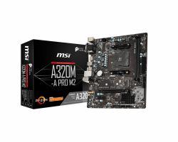 MSI - A320M-A PRO M2 AMD AM4 2xDDR4 VGA/DVI-D/HDMI mATX