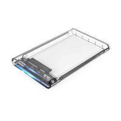 CoolBox - Caixa HDD 2.5PSCT-2533 USB3.0 transparente