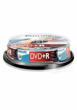 PHILIPS - DVD+R 4,7GB 16x Cakebox (10 unidades)