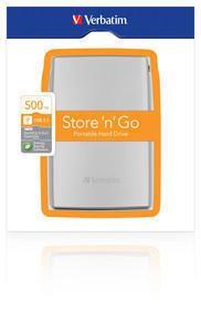 VERBATIM - EXTERNO 2.5Pol 2 ANOS GARANTIA 500GB PRATA USB 2.0