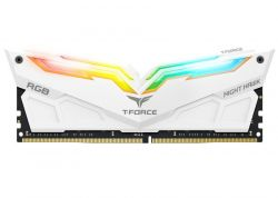 TEAM GROUP - DIMM T-FORCE 2X8GB DDR4 3200MHZ CL16 NIGHT HAWK RGB - WHITE