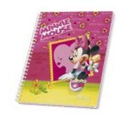 AMBAR - Caderno Espiral Ambar Disney A5 Quadriculado 80 Folhas