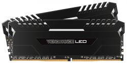 CORSAIR - DDR4 2666MHZ 32GB 2 X 288 UNBUFFERED 16-18-18-36 VENGEANCE BLACK HEAT SPREADER CUSTOM PERFORMANCE PCB STUNNING WHITE LED 1.2V XMP 2.0