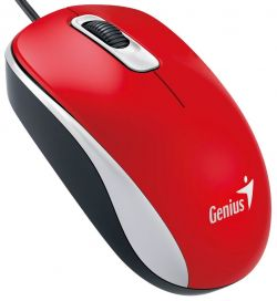 GENIUS - DX-110 USB Ótico 1000DPI AMBIDEXTRO Vermelho Rato