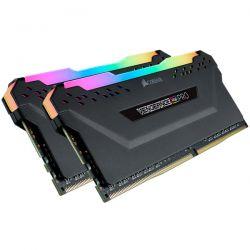 CORSAIR - DDR4, 3600MHz 16GB 2 x 288 DIMM, Unbuffered, 18-19-19-39, Vengeance RGB PRO Heat spreader, RGB LED, 1.35V, XMP 2.0