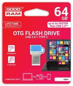 GOODRAM - 64GB DUAL DRIVE TYP C USB 3.0