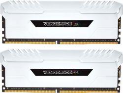CORSAIR - DDR4 32GB 2X16GB PC 3200 VENGEANCE WHITE RGB CMR32GX4M2C3200C16W