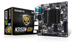 GIGABYTE - N3150N-D3V INTEL N3150 INTEL SOC 2DDR3 SO-Dimm 8GB +DVI 2GBLAN 4SATA3 4USB3 MITX