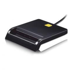 TOOQ - LEITOR CARTÕES EXTERNO TQR-210B DNIE USB 2.0 PRETO (CARTÃO CIDADÃO)