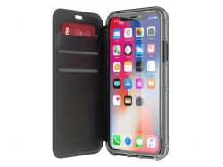 GRIFFIN - SURVIVOR CLEAR WALLET IPHONE X (BLACK)