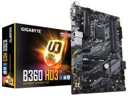 GIGABYTE - PLACA B360 HD3, INTEL, 1151, B360, 4DDR4, 64GB, VGA+DVI+HDMI, GBLAN, 6SATA3, 1XM.2, 5USB3.1