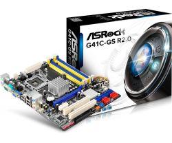 ASROCK - G41C-GS R2.0 INTEL 775 G41 COMBO 2XDDR2 2XDDR3 8GB GBLAN 4XSATA2 MATX