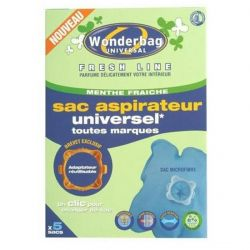 ROWENTA - Conjunto de 5 Wonderbags Fresh Line  Menta- Sacos Univ. Anti-bact.