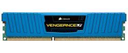 CORSAIR - DDR3 8GB 2x4GB PC 1600 Vengeance Low Profile Blue Heatspreader CML8GX3M2A1600C9B
