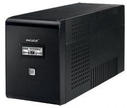 PHASAK - UPS 1500VA LCD USB com proteção para RJ