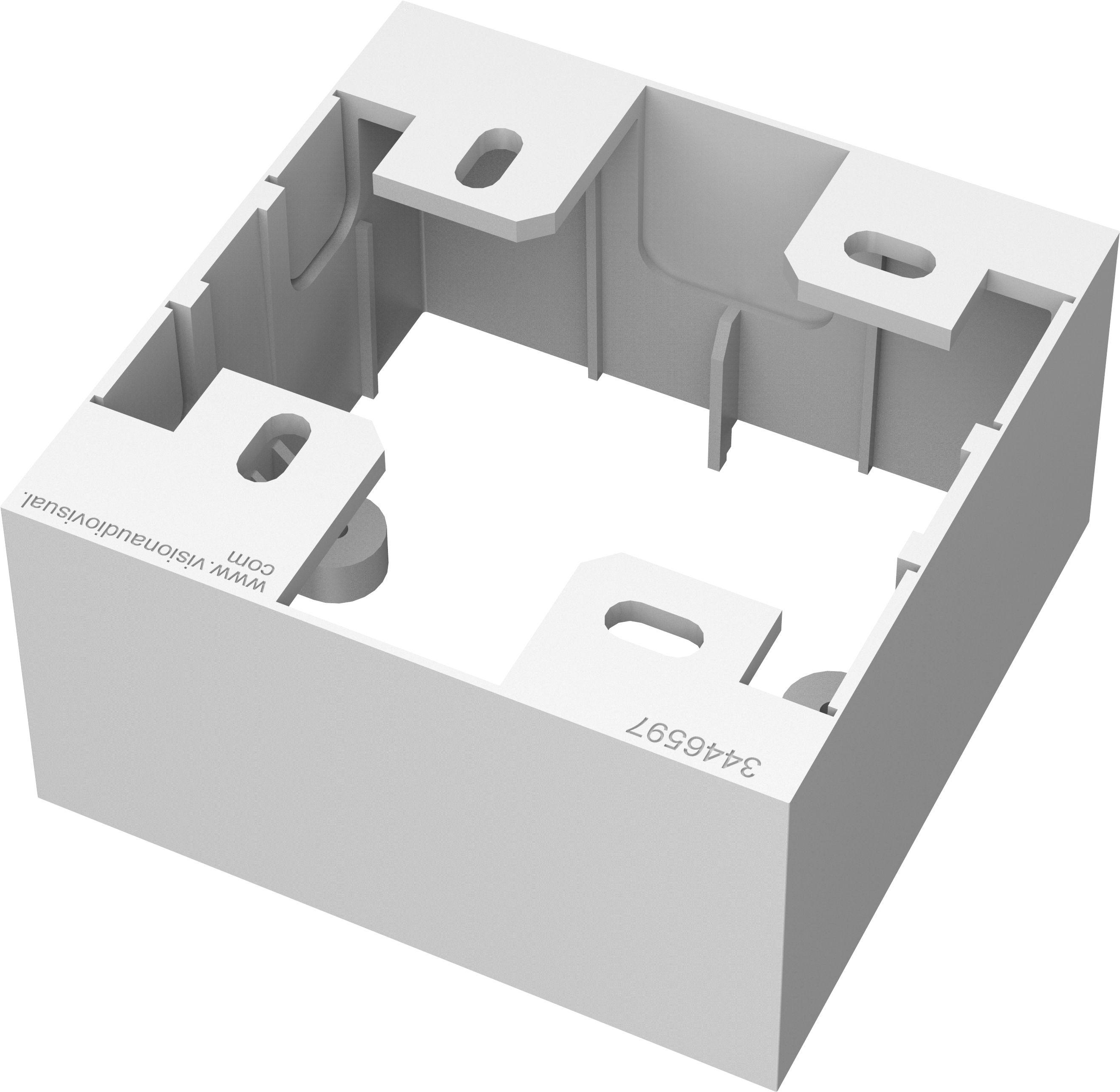 Vision Caixa De Aparelhagem Para Ficha Simples Modelo Inglês Para Montagem Encastrada Branca Caixa De Aparelhagem Padrão Para Ficha Simples
