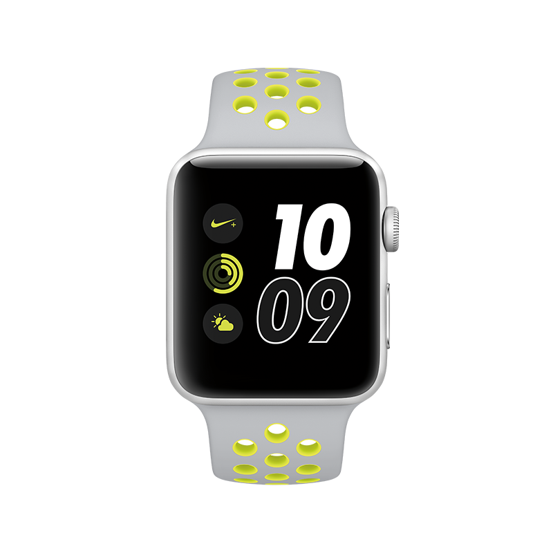 0bdc70b736a APPLE - Watch Nike+  42mm Silver Aluminium Case wi